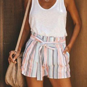 Vici Cotton Tie Waist Shorts NWOT